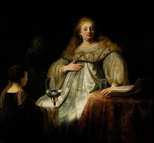 Artemisia by Rembrandt in Prado