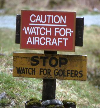 Caution Golfers
